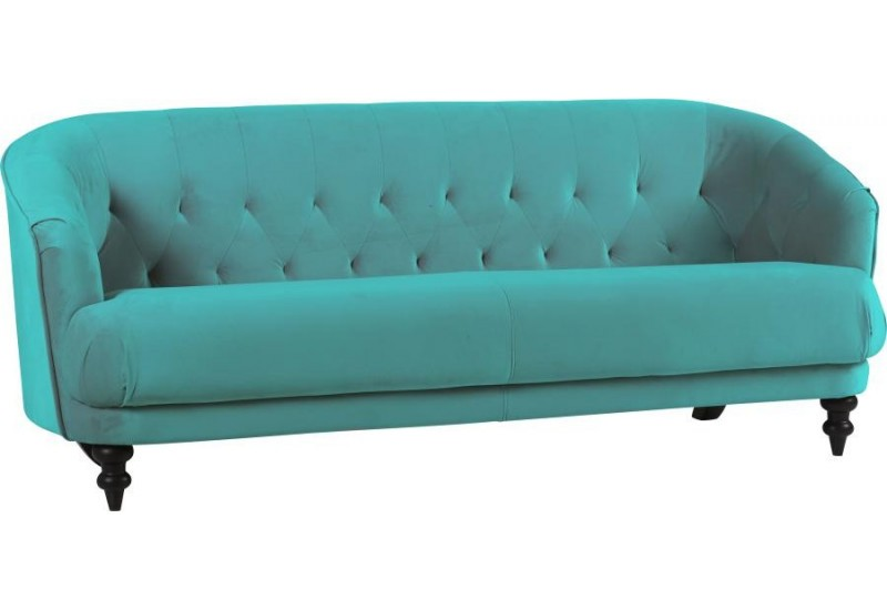 canap boh me chic velours turquoise 201x80xh80cm hanjel 28322. Black Bedroom Furniture Sets. Home Design Ideas