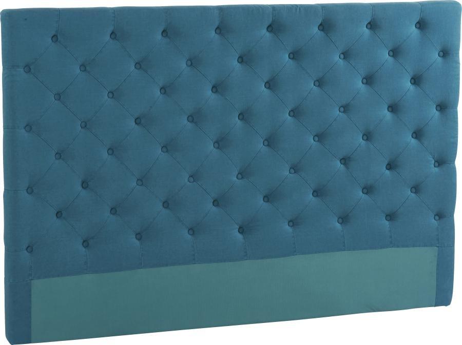 awesome beautiful tte de lit capitonne lin lav bleu canard with tete de lit capitonne fait. Black Bedroom Furniture Sets. Home Design Ideas