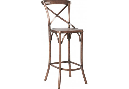 tabouret bar bistrot m tal cuivr 47x40xh116cm lot de 2 hanjel 28486. Black Bedroom Furniture Sets. Home Design Ideas