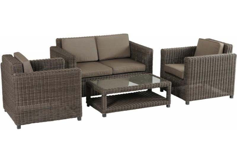 fauteuil salon de jardin en rotin gris rose 81x85x80h. Black Bedroom Furniture Sets. Home Design Ideas