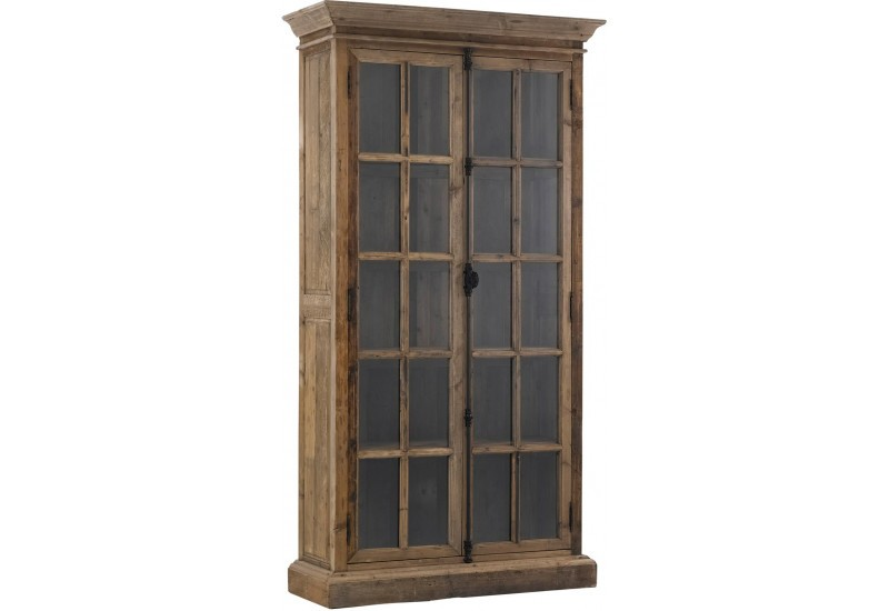 vitrine 2 portes fermeture fen tre victor naturelle. Black Bedroom Furniture Sets. Home Design Ideas