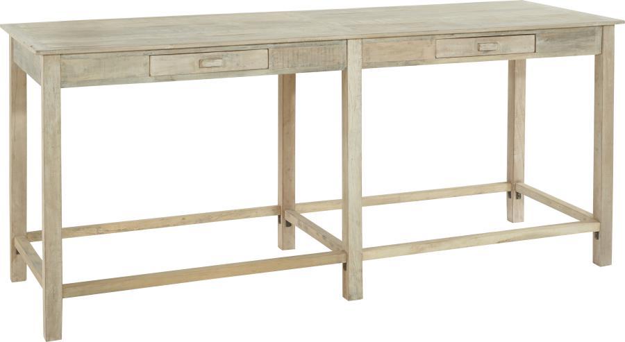 Grande Table A Manger Haute Bois Blanchie Mahe 240x79xh108cm Hanjel