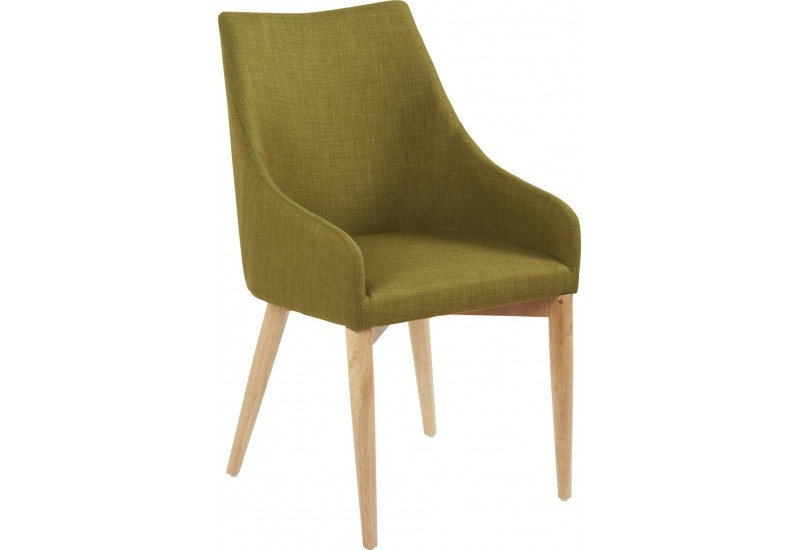 Chaise scandinave Dallas vert Tilleul 50x56xH89cm (Lot de 2)