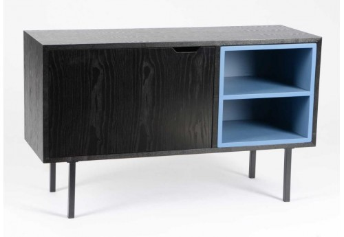 meuble tv moderne noir int rieur bleu amadeus 28871. Black Bedroom Furniture Sets. Home Design Ideas