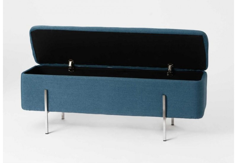 banquette contemporaine bleue pieds m tal amadeus 29478. Black Bedroom Furniture Sets. Home Design Ideas