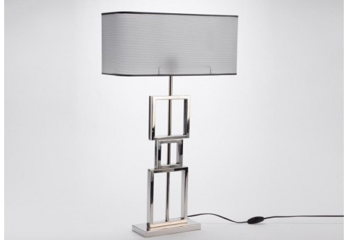 lampe contemporaine chrome et gris amadeus 29759. Black Bedroom Furniture Sets. Home Design Ideas