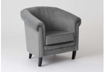Fauteuil Chesterfield Gris clair