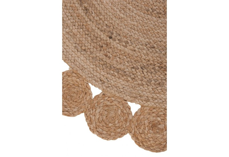tapis rond jute naturel 120x120x0cm j line by jolipa 29926. Black Bedroom Furniture Sets. Home Design Ideas