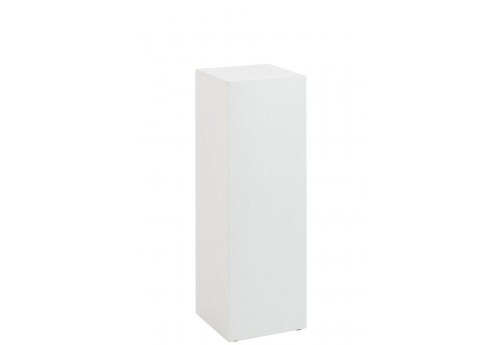Sellette Carre Bois Blanc 30X30X90Cm