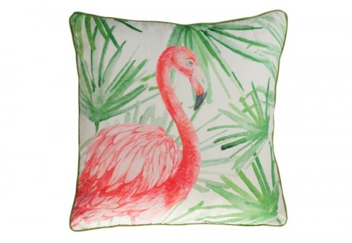 coussin flamant rose 45x45x5cm j line by jolipa 30085. Black Bedroom Furniture Sets. Home Design Ideas