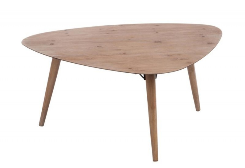Table basse triangle scandinave naturel 100x80x44cm j line for Table a manger triangulaire