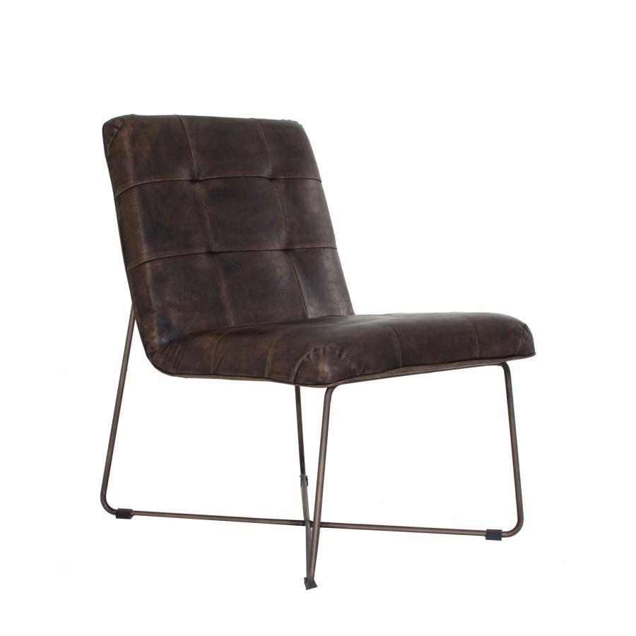 Chaise industrielle metal fashion designs - Chaise metal et cuir ...