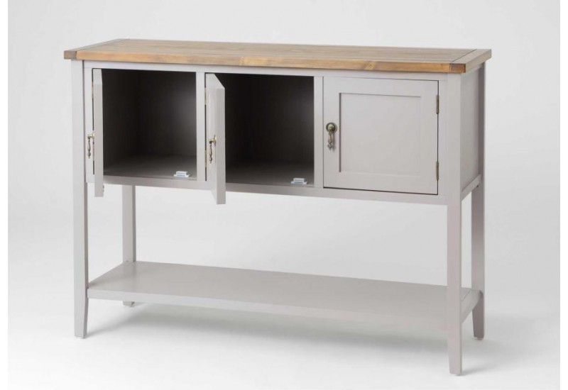 console buffet bicolore gris bois amadeus 29430. Black Bedroom Furniture Sets. Home Design Ideas