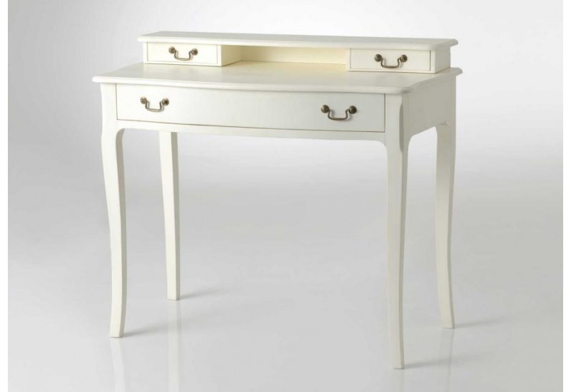 bureau classique chic c rus blanc hortense amadeus 31181. Black Bedroom Furniture Sets. Home Design Ideas