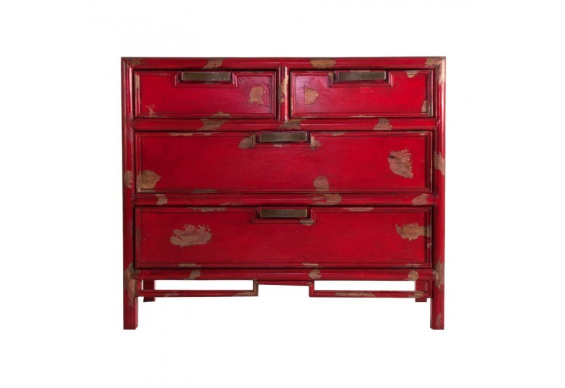 commode asiatique en manguier rouge antique vical home vh 23382. Black Bedroom Furniture Sets. Home Design Ideas