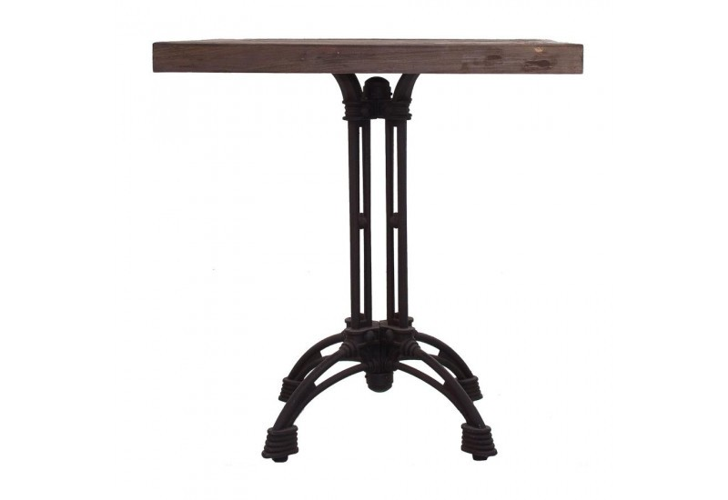 table bistrot pieds en fer noir et plateau en bois massif vical hom. Black Bedroom Furniture Sets. Home Design Ideas