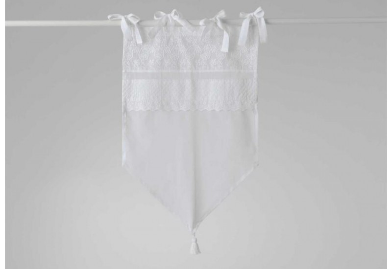 Brise bise broderie anglaise blanche Apolline 45x70 cm