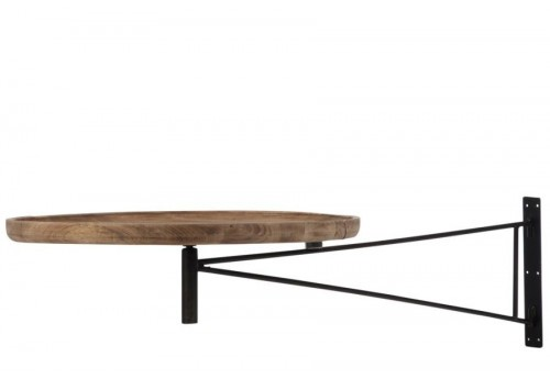 table murale pivotante ronde bois et m tal naturel j line by jolipa. Black Bedroom Furniture Sets. Home Design Ideas