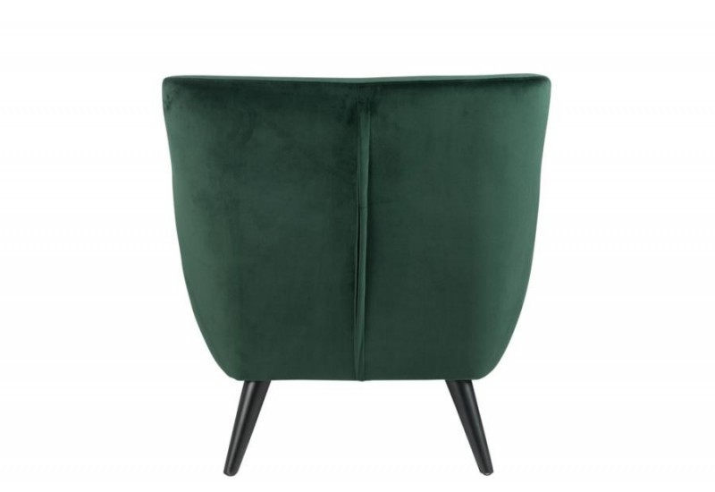 fauteuil m lissa en velours vert sur 4 pieds noir j line by jolipa. Black Bedroom Furniture Sets. Home Design Ideas