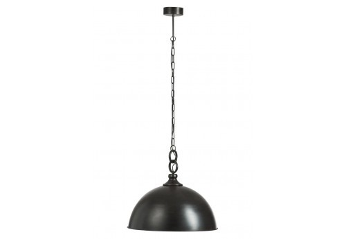Suspension industrielle D 53,5 cm ronde en métal noir
