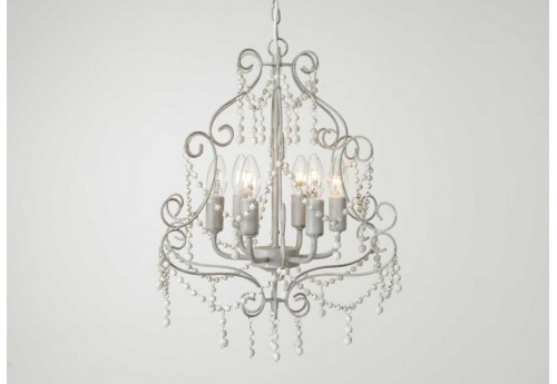 Lustre Baroque chic margarate 6 branches
