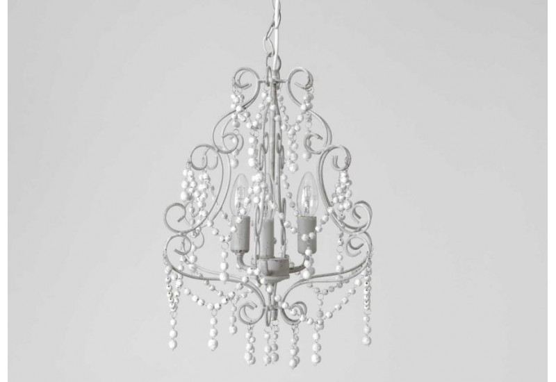 Lustre Baroque chic gris margarate 3 branches