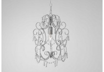 Suspension baroque chic gris margarate 1 branche