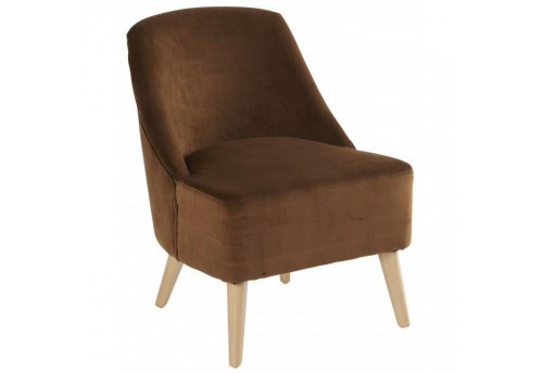 Fauteuil Crawford Velours Caramel 53x66xH75cm