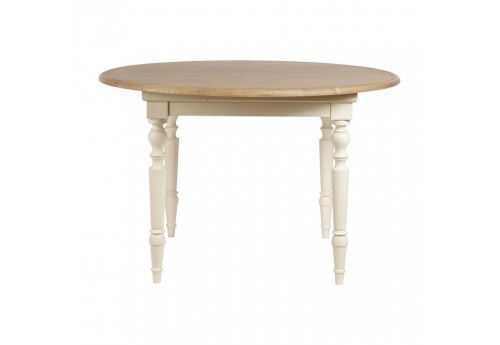Table manger ronde avec rallonge citadines blanche for Table ronde a rallonge blanche