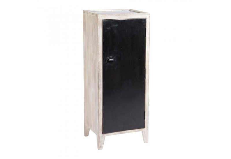 meuble de rangement 1 porte m tal noir jardin d 39 ulysse ju. Black Bedroom Furniture Sets. Home Design Ideas
