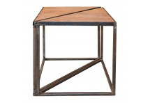 Table basse triangle x2 industriel Tangra 60x42x48,5 cm