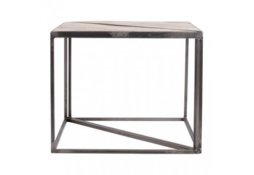 Table basse triangle x2 Industriel Tangra 60x30x48,5cm