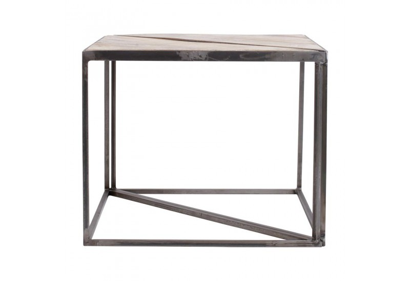 Table basse triangle x2 Industrielle Tangram 60x30x48,5cm
