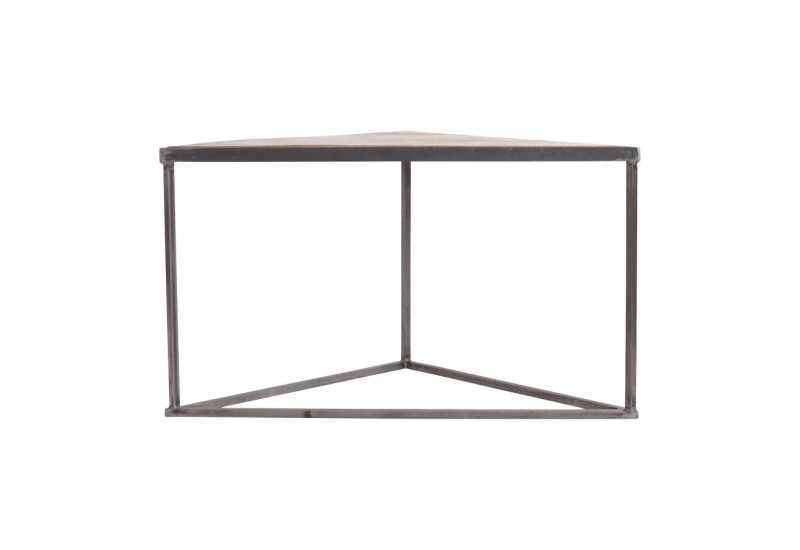 Table basse triangle x2 Industrielle Tangram 60x30x48,5cm Jardin d\'...