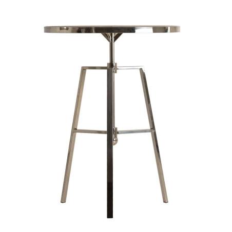 Table basse ronde moderne acier et bois naturel