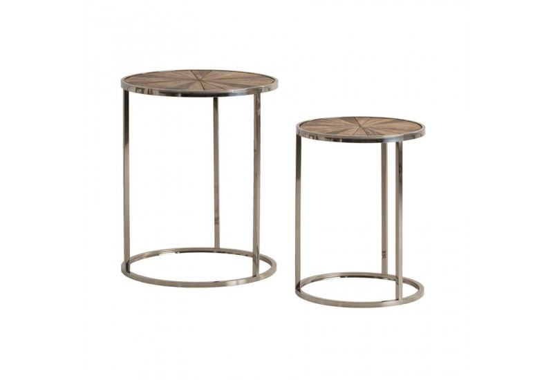 Lot de 2 tables d'appoint moderne FYN