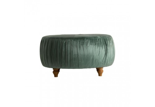 Pouf rond Baroque chic velours vert