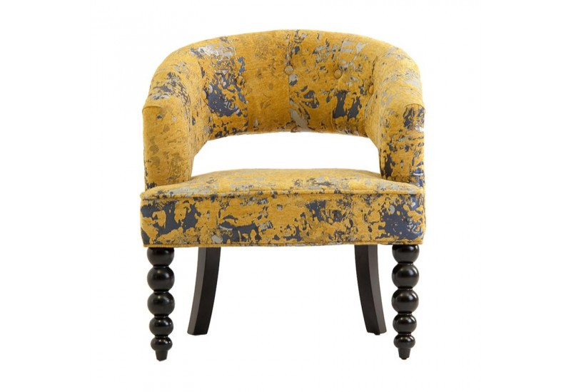 Fauteuil chic moutarde DIEPPE