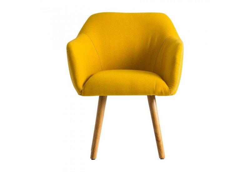 Fauteuil scandinave moutarde