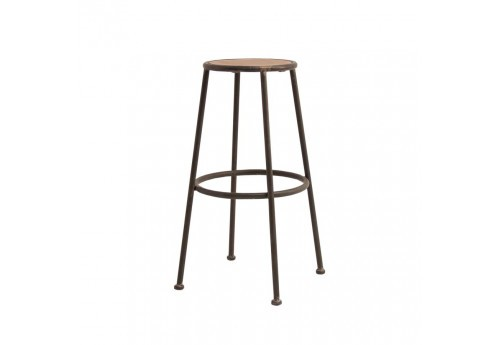 Tabouret de bar 76 cm industriel