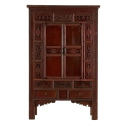 Armoire orientale rouge antique TAWA