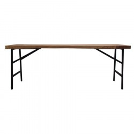 Table à manger industrielle 300 cm bois et métal