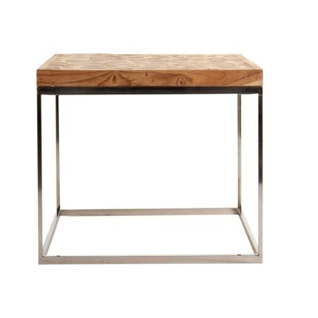 Bout de canapé contemporain en rondin de bois