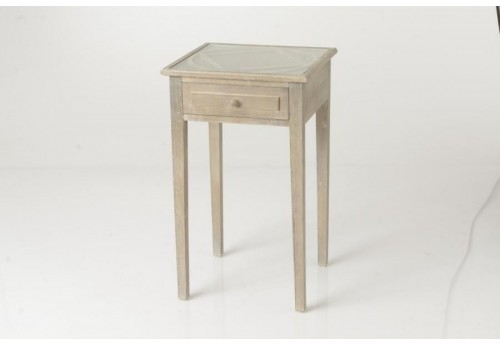 Table de chevet 1 tiroir bois naturel Tradition