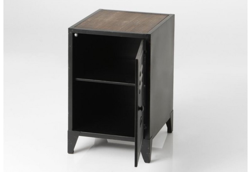 chevet industriel 1 porte m tal noir vestiaire amadeus 33485. Black Bedroom Furniture Sets. Home Design Ideas