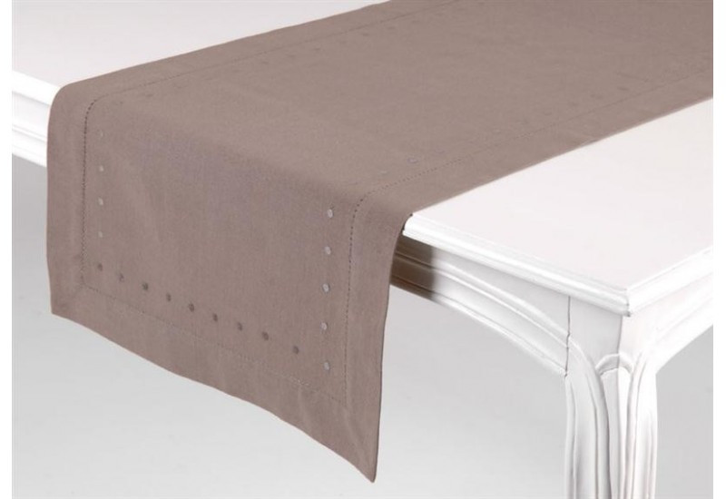 Chemin De Table Taupe