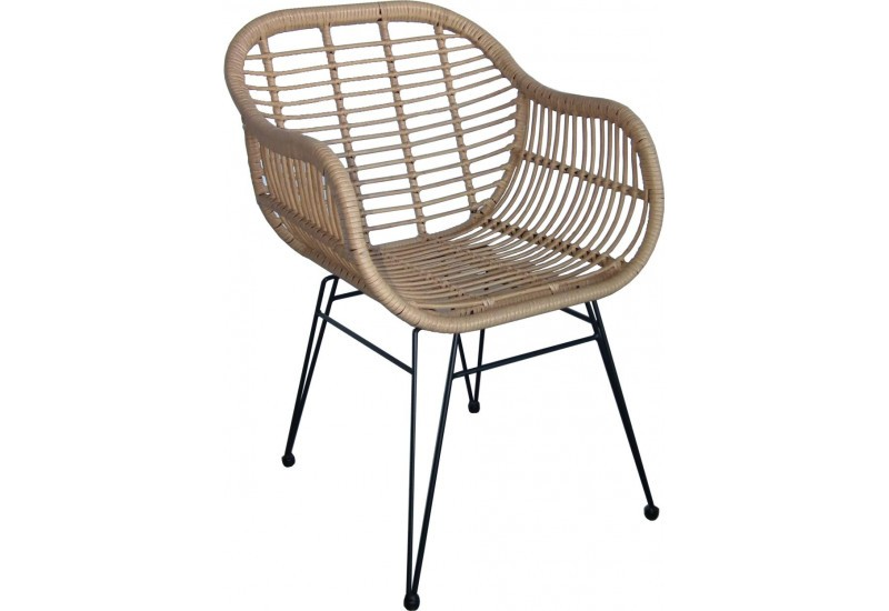 Fauteuil nature rotin Doma 58x63xH82cm