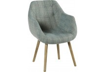 Fauteuil scandinave Coventry Turquoise Chiné 61x45xH88cm
