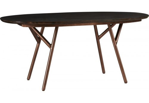 Table Andy Ovale en acacia 180x90xH79cm