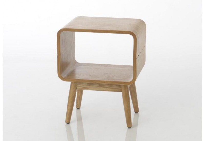 Table de chevet esprit scandinave 1 niche FRENE